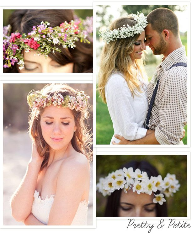 Bridal Hair Garlands – Pretty Flowers in Your Hair