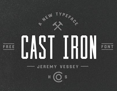 "Check out new work on my @Behance portfolio: ""Cast Iron (Free Typeface)"" http://on.be.net/1MosF9v"