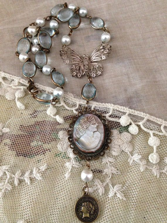 Reserved for ginger french inspired vintage component for Repurposed vintage jewelry designers