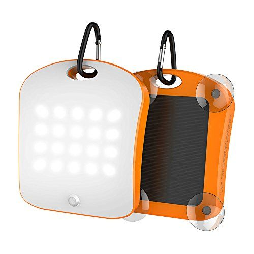 Solar Charger 6000mah Portable Power Bank with Emergency Led Torch 20LED lights and 2 USB 2.1A Charger for Smartphones Tablets and outdoor camping(orange)  https://topcellulardeals.com/product/solar-charger-6000mah-portable-power-bank-with-emergency-led-torch-20led-lights-and-2-usb-2-1a-charger-for-smartphones-tablets-and-outdoor-campingorange%ef%bc%89/  1. KRTOTAI Window absorption solar panel, super large LED camping lamp, with human body Sensor, SOS warning function. 2.