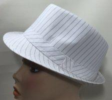 Cotton Trilby - White Pinstripe 57