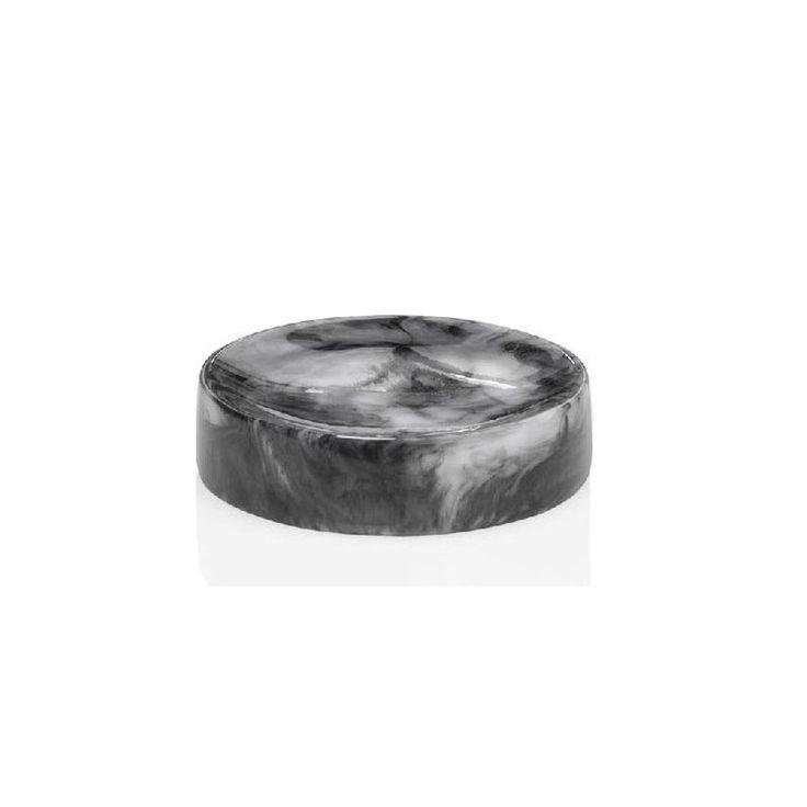 meilleur gros en ligne styles de variété de 2019 Porte Savon Rond Résine Effet Marbre Noir - Taille : Taille ...