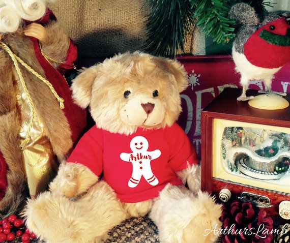 Gingerbread Man,Personalised Teddy,Christmas Bear,Personalized Teddy Bear,Teddy Bear,Christmas Gifts,Christmas Gift Ideas,First Christmas