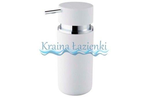 * 06596 round dozownik mydła biały BISK