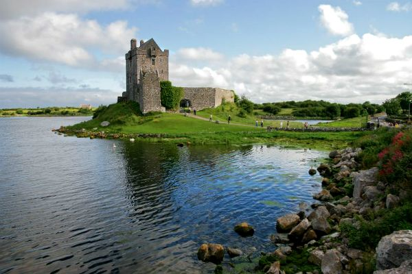 My husband and I took a trip to Ireland, and I have to say that it was amazingly fun! He drove, I navigated, and we toured the country for a week... exploring food, towns, castles and so much of the culture. We loved it, and it would be such a fun honeymoon getaway! This is the Dunguaire Castle in Galway, Ireland