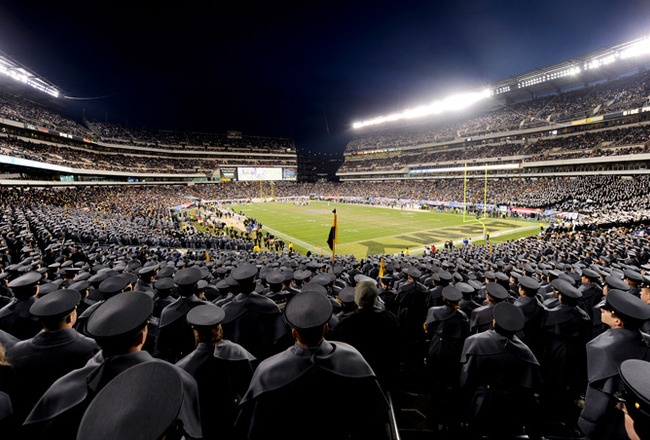 Philadelphia's Lincoln Financial Field, home to the Philadelphia Eagles, is also the site for one of the biggest rivalries in football; the annual Army-Navy Game.