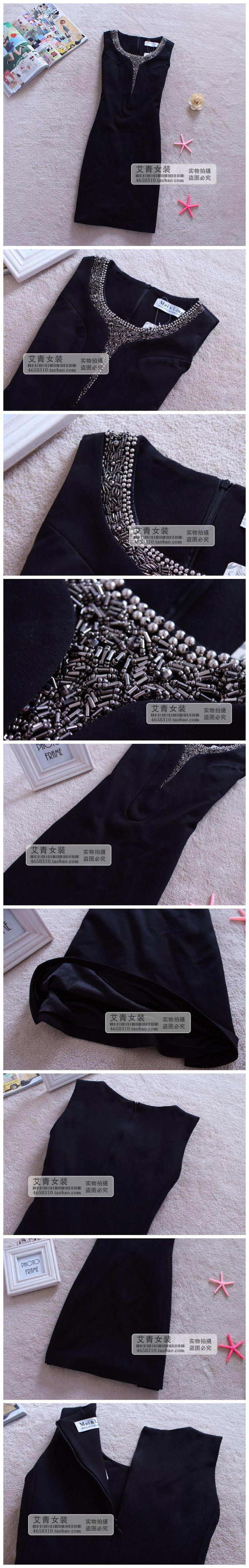 Зимние новый корейский Женщины аристократической темперамент Европа трикотажные платья без рукавов Тонкий платье жилет, юбка - глобальная станция Taobao
