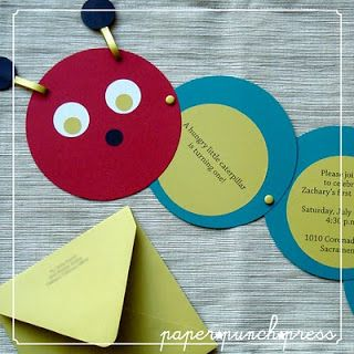 Cute invitation for a very hungry caterpillar party