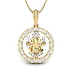 Enhance your heart,mind and soul with this pendant which has mottled diamond studded in a typical metal frame gives devotional feelings.Bring home  prosperity, wisdom and learning click here ~ http://www.candere.com/ganpati-diamond-pendant.html