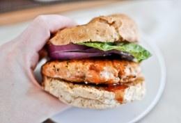 BBQ Salmon Burgers | How Sweet It Is