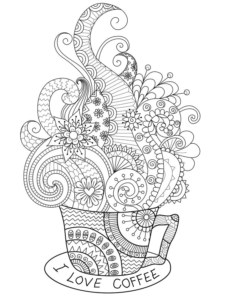 i love coffee adult coloring page you can print for free printable