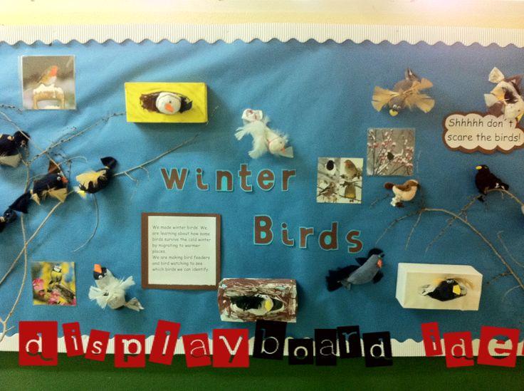 classroom themes | ... displays winter birds classroom displays – Display board ideas