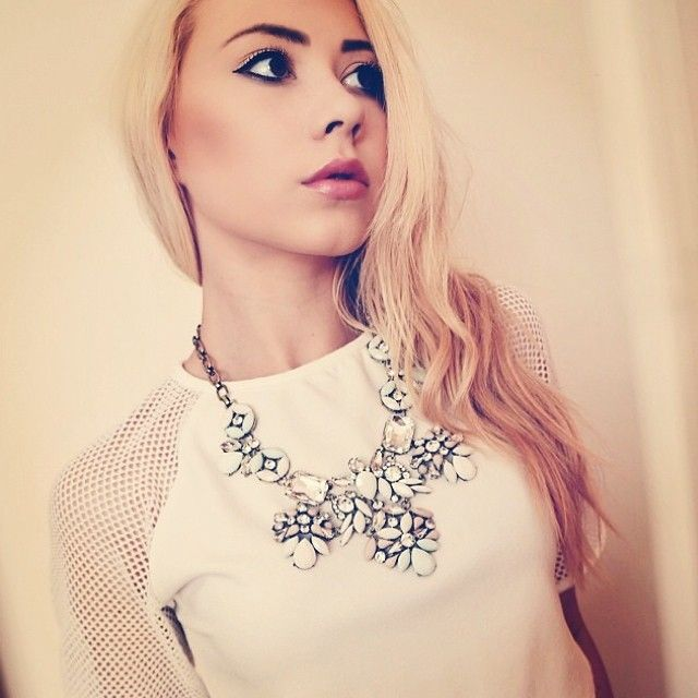 The lovely @taraaburchett looking incredible in our Milky Way necklace #ootd #fbloggers #statementnecklace