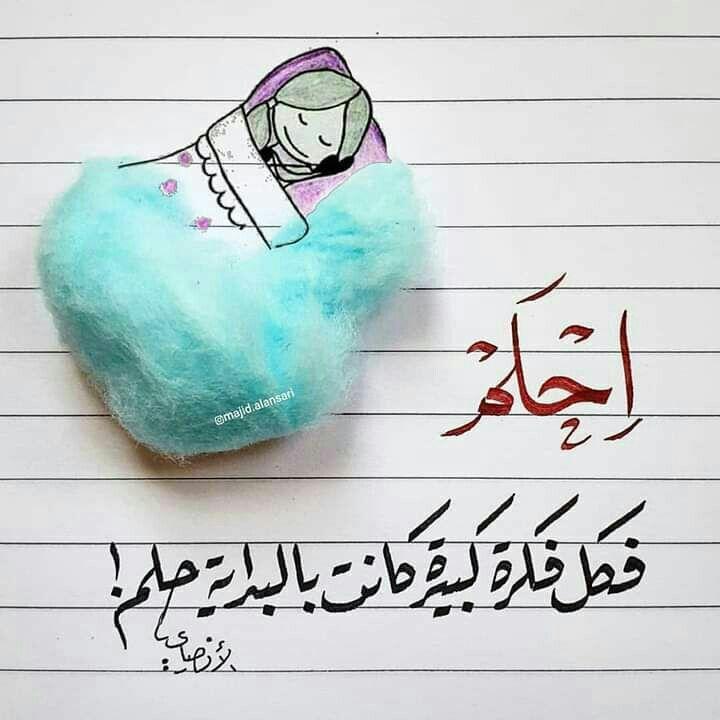 احلم فكل فكرة كبيرة كانت بالبداية حلم Beautiful Arabic Words Words Quotes Words