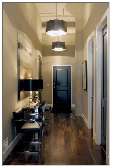 Black doors. I really like the dramatic impact. If only we could paint our apartment doors...