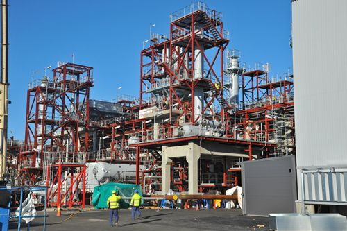 UPM Lappeenranta Biorefinery Project in October 2013.