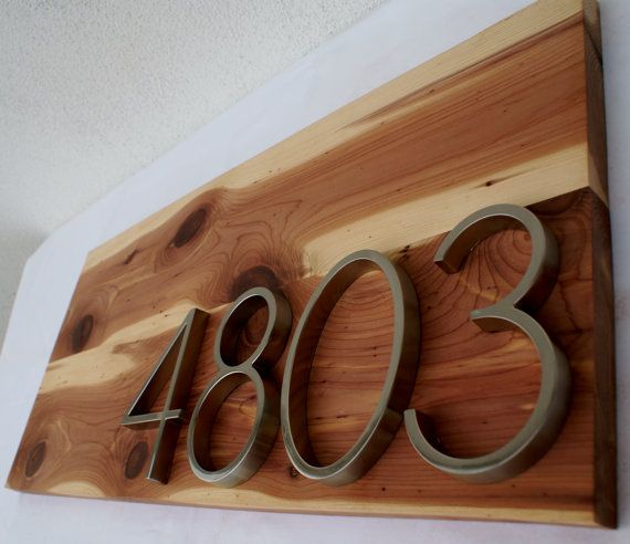 Dream home remodeling address plaques.