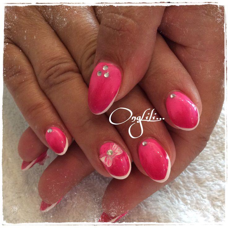 Forme amande, rose, kiki 3D #nail #nails #nailart #onglili #lyon #ongle