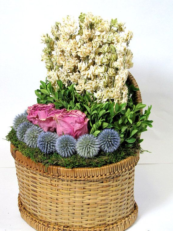 17 best images about dried flower arrangements on pinterest wall basket floral arrangements - Best dried flower arrangements a colorful winter ...