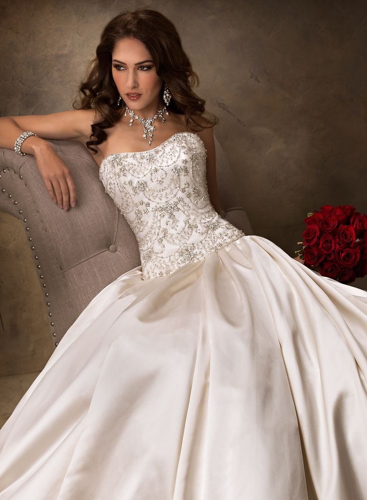 New Zander Bridal Gown from Maggie Sottero two piece gown soft satin strapless bodice