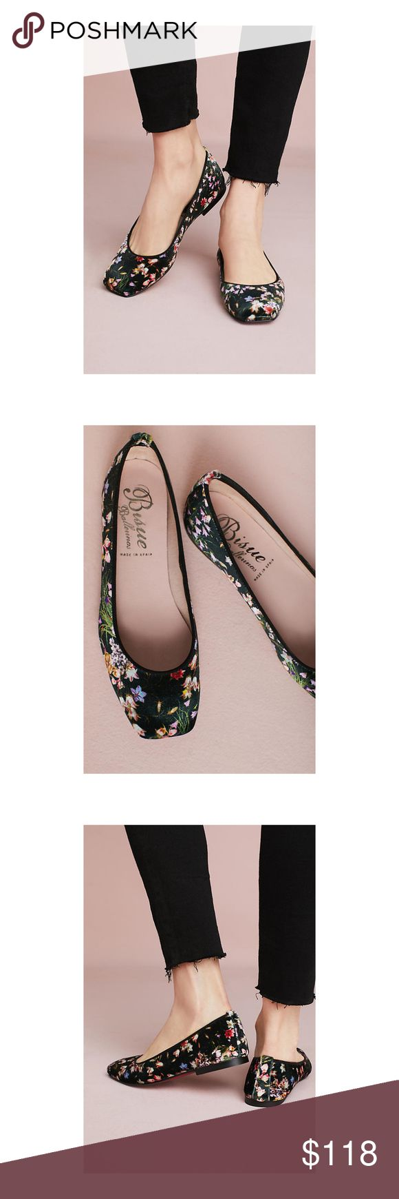 Bisue Ballerinas Square Toe Floral Ballet Flats 36 Bisue Ballerinas Square-Toe Floral Ballet Flats from Anthropologie.  New without box.  Size 36.  Made in Spain. Anthropologie Shoes Flats & Loafers