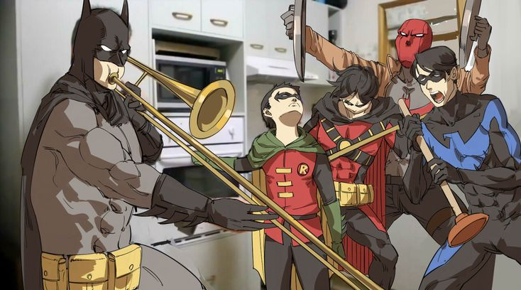 When Alfred isn't home.  Batfamily