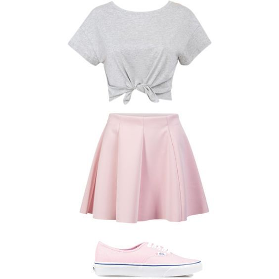 nice How to wear a pink skirt at school