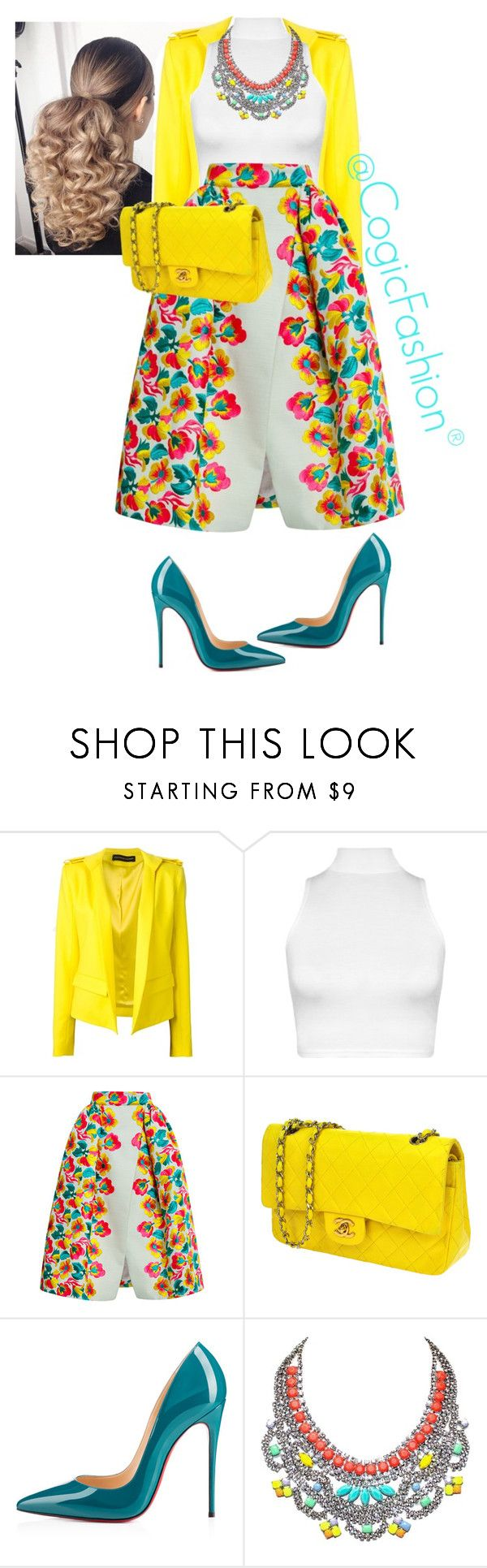 """""""Untitled #464"""" by cogic-fashion ❤ liked on Polyvore featuring Alexandre Vauthier, WearAll, Delpozo, Chanel, Christian Louboutin and Tom Binns"""