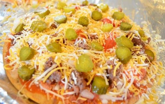 Make your own Papa Murphy's Cheeseburger Pizza - this is THE BEST pizza ever and I crave it all the time!  I just wish PM's would add it to their regular menu.  Until then, I'll have to make it at home.