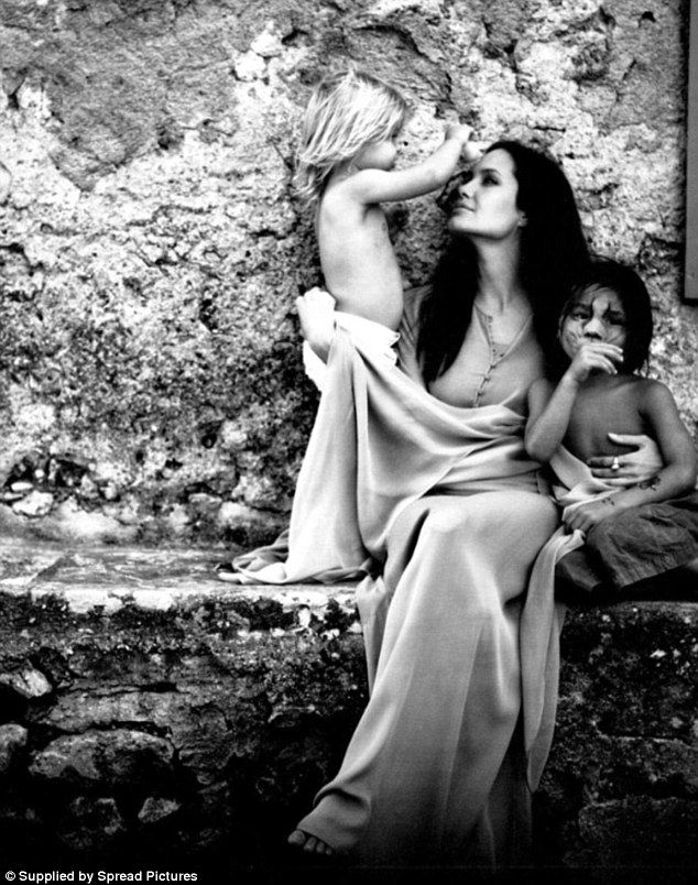 Intimate in black and white! In new mesmerising shots, released in the latest issue of W Magazine, Angelina Jolie and Brad Pitt have given fans a rare insight into their private life