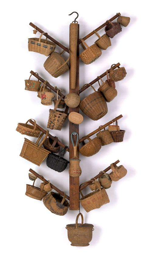 37 miniature New England and Pennsylvania baskets
