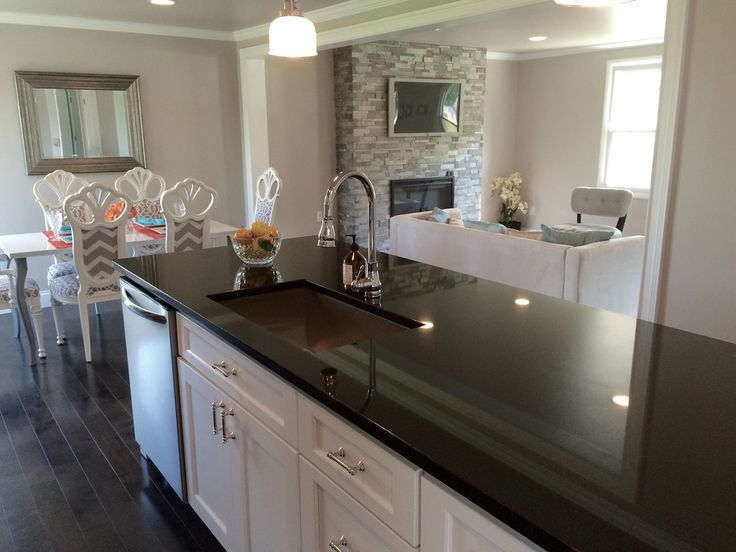transitional black white kitchen by blankspace llc pittsburgh pa large kitchen island with - Kitchen Remodeling Pittsburgh Pa