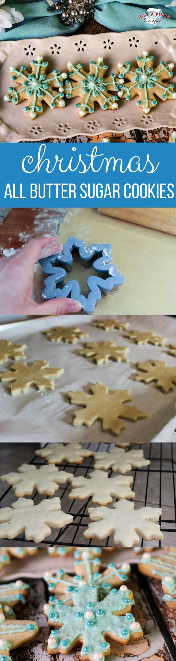 Christmas All Butter Sugar Cookies :  justapinch   #christmas  #cookies