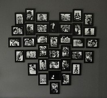 valentine wall decoration, heart made of frames