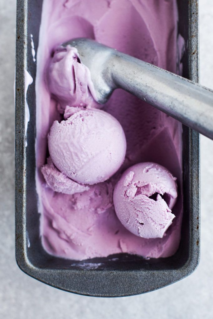 Coconut and Purple Sweet Potato Ice Cream (Vegan)