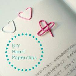Spruce up your desk or office with these easy to make heart shaped paperclips that can be made in seconds!
