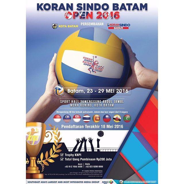 22 Tim Meriahkan Turnamen Volly Internasional 2016 Sindo Batam
