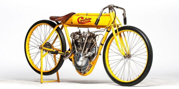 Ex-McQueen Cyclone board track motorcycle for sale  - RoadandTrack.com