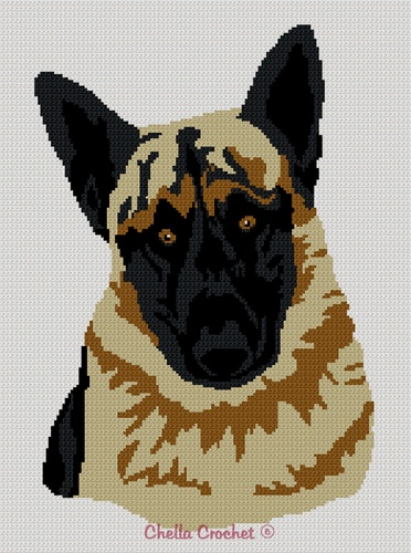 German Shepherd Dog Afghan Crochet Pattern Graph Afghan ...