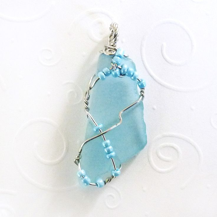 192 best Wire Wrapped Glass Pendants images on Pinterest | Sea glass ...