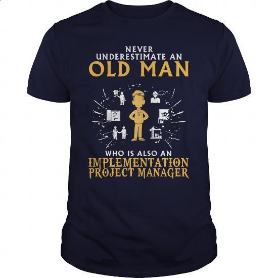 Implementation Project Manager old man 1 - #t shirt printer #t shirt company…