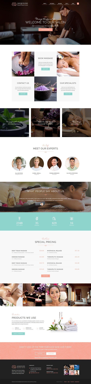 Jacqueline Is Premium Wordpress Theme For Spa Beauty Salon Or Wellness Center Website Download Now Site Web Design Theme Wordpress Mise En Page Web