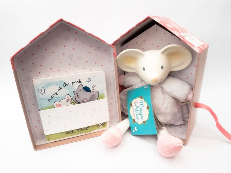 Meiya & Alvin - Rubber Mouse Toy with Book Gift Box