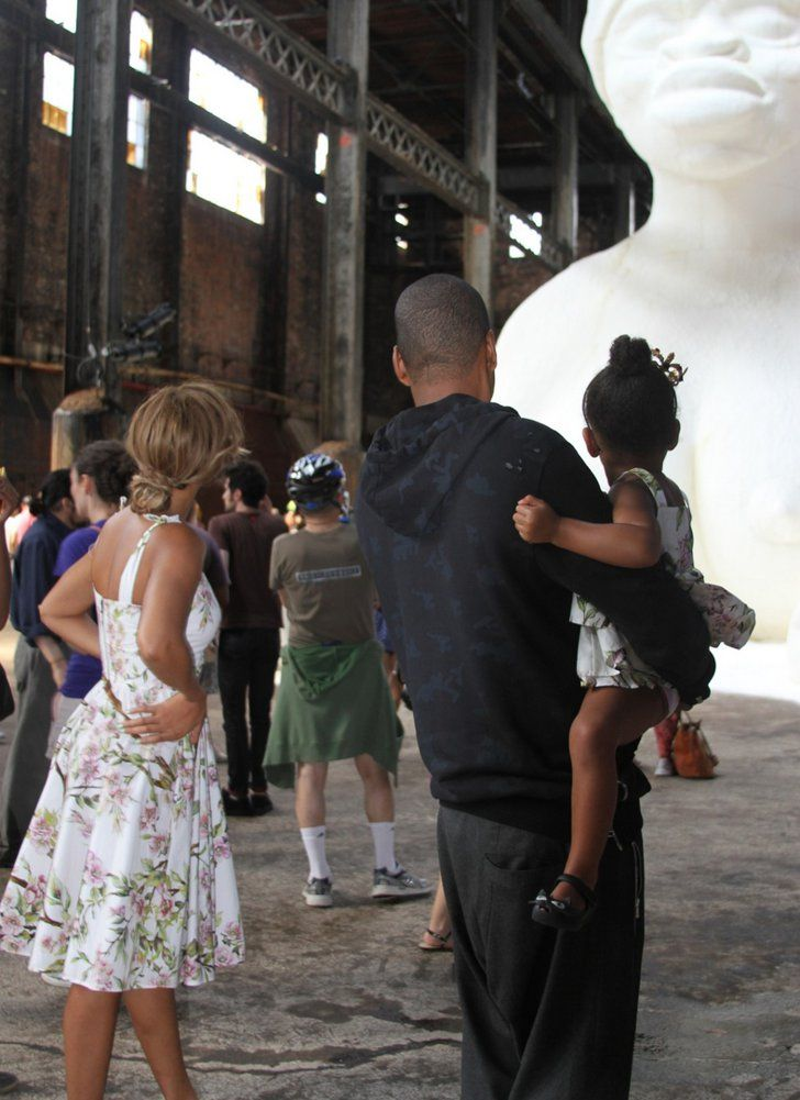 Pin for Later: 22 Times We Saw the Back of Blue Ivy's Head This Year She visited Kara Walker's sugar sculpture in Brooklyn.