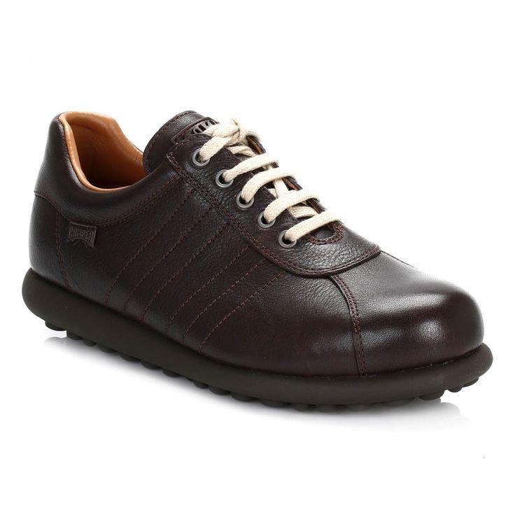 Camper Mens Dark Brown Pelotas Leather Shoes