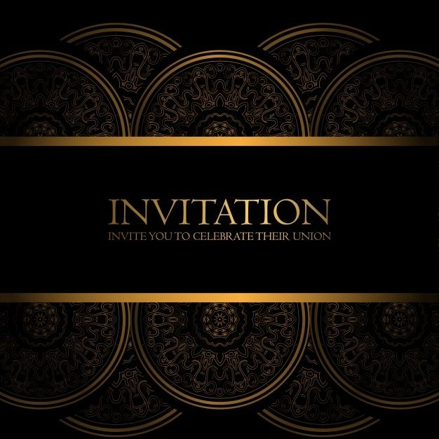 Download Black And Gold Invitation For Free Gold Invitations Black And Gold Invitations Black And Gold Invitations Template