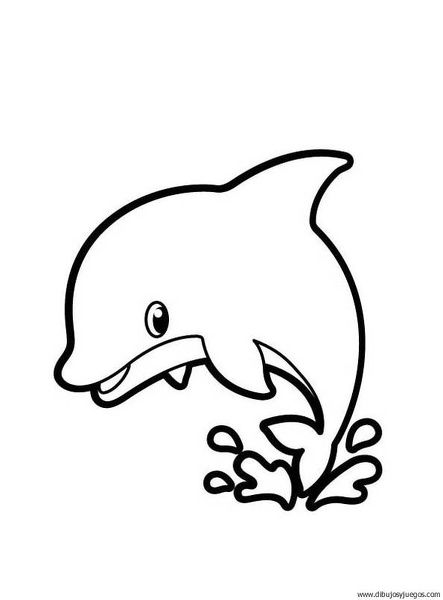 Imagenes dibujos de delfin moldes pinterest - Dibujos para pintar en tejas ...