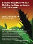 Free poster to print - World #Vegetarian Day, October 1, is the annual kick-off of Vegetarian Awareness Month.