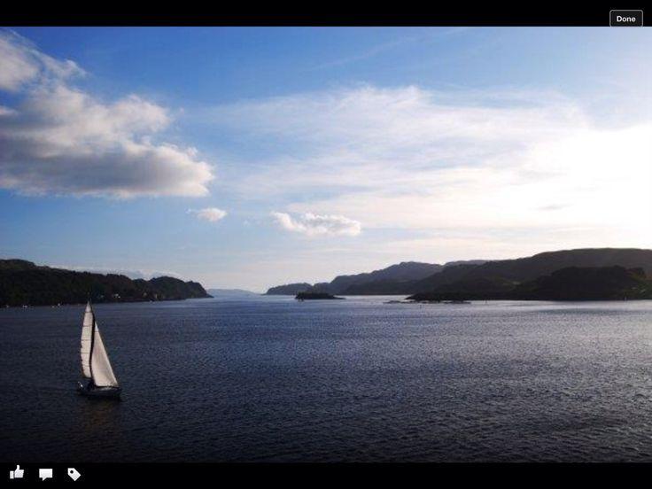 En route to the Isle of Skye in Scotland