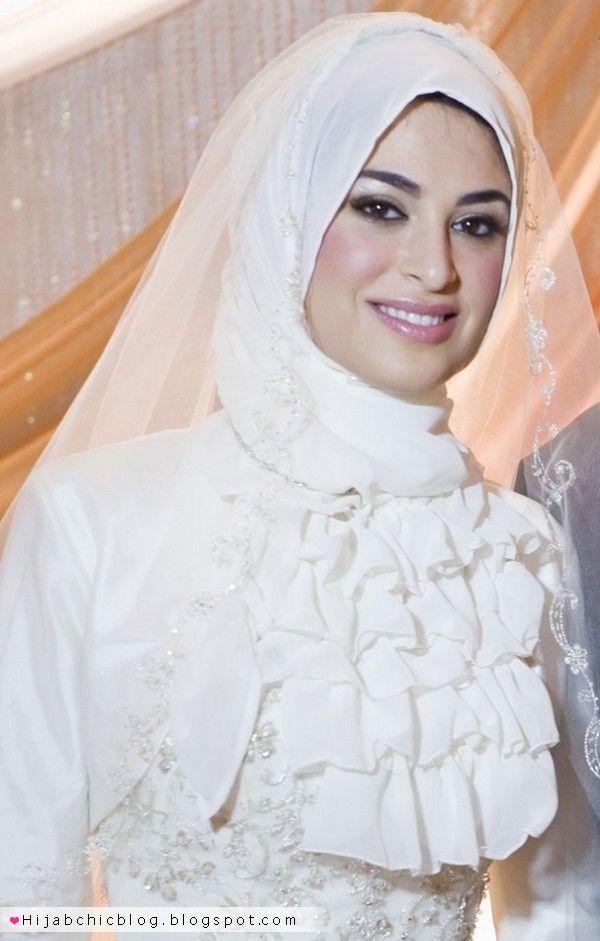muslim bridal wear hijab and details